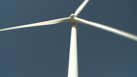 Wind turbine tilt up shot Stock Video Footage