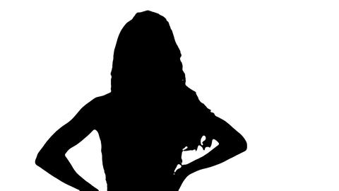 Female silhouette Stock Video Footage