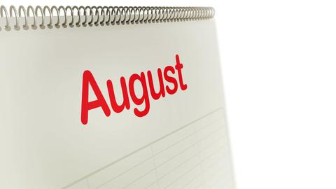 Calendar Months Flipping Loop Stock Video Footage