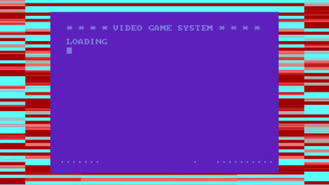 Retro Video Game Loading Stock Video Footage