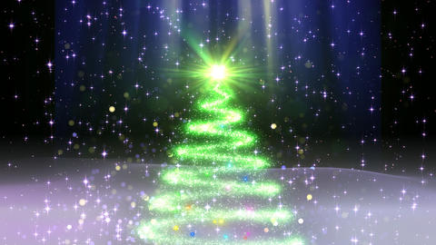 Christmas Tree Glitter Ac1 CG動画