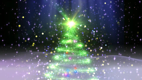 Christmas Tree Glitter Ac1 Stock Video Footage