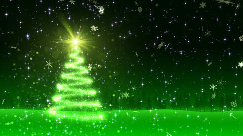 Christmas Tree Glitter Al1 Animation