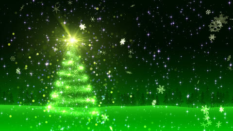 Christmas Tree Glitter Al1 Stock Video Footage
