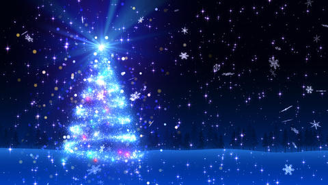 Christmas Tree Glitter Bl1 Stock Video Footage