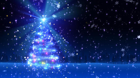 Christmas Tree Glitter Bl1 Stock Video Footage