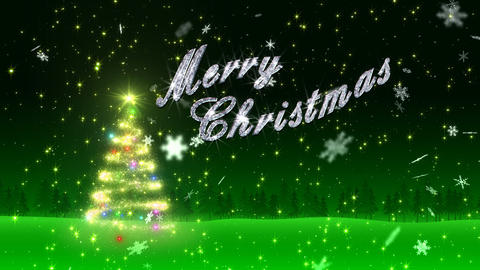 Christmas Tree Glitter Bs5 Stock Video Footage