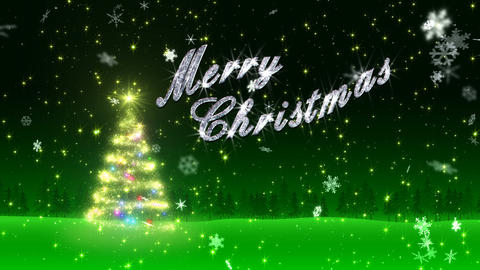 Christmas Tree Glitter Bs5 CG動画