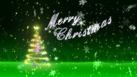 Christmas Tree Glitter Bs5 Stock Video Footage