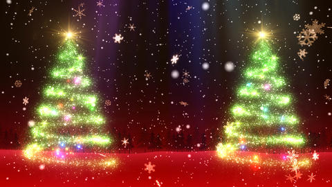 Christmas Tree Glitter Bw2 Stock Video Footage