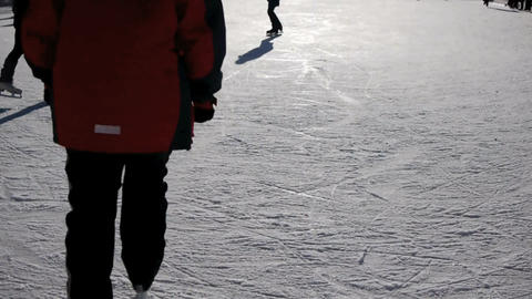 Ice skating Stock Video Footage