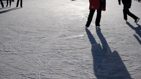 Ice skating Footage