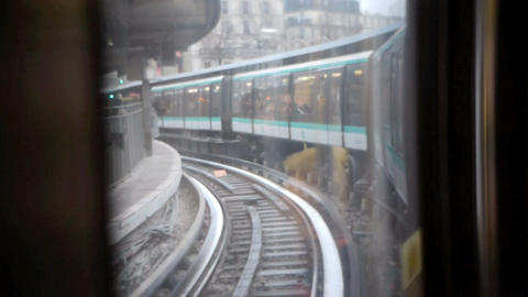 Paris metro 23 Stock Video Footage