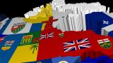 Pan Across 3D USA States Map stock footage