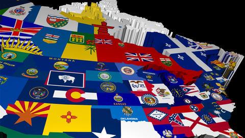 Pan Across 3D USA States Map Animation