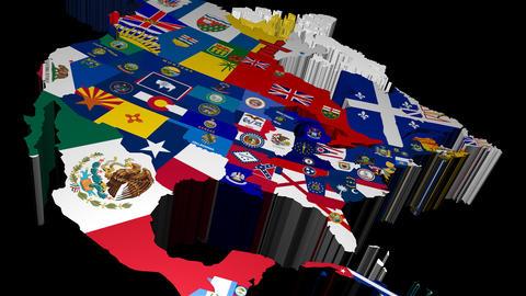 Pan Across 3D USA States Map Stock Video Footage