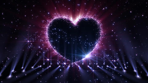Heart Glitter 2 K3 Stock Video Footage