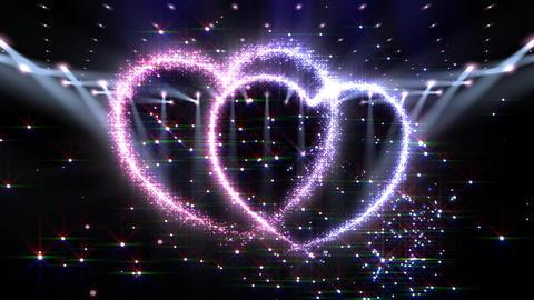 Heart Glitter 2 L3 Stock Video Footage
