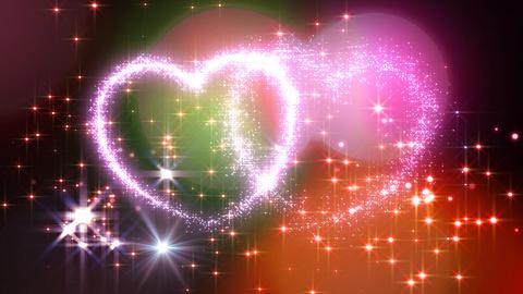 Heart Glitter 2 M1 Stock Video Footage
