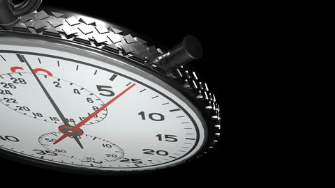 15 Second Stopwatch Matte / Alpha & Fill Stock Video Footage