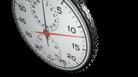 15 Second Stopwatch Matte / Alpha & Fill, Stock Animation