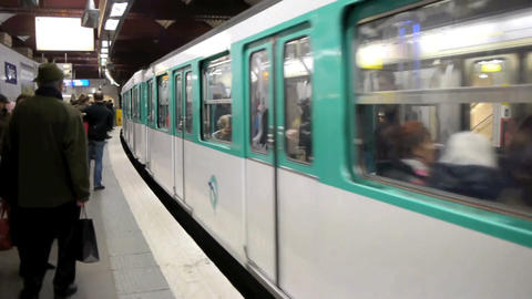 Paris metro 30 Stock Video Footage