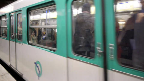 Paris metro 30 Footage