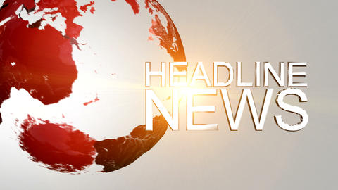 Headline News Animation Stock Video Footage