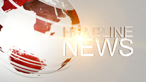 Headline News Animation Stock Video Footage