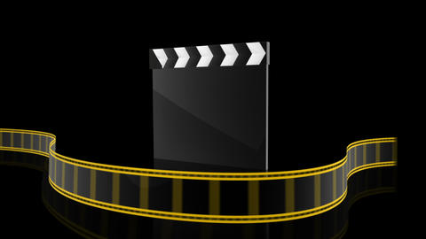 Clapboard Animation Stock Video Footage