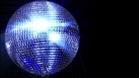 disco mirror ball left wide loop Stock Video Footage