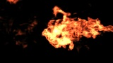 Horizontal Fire With Alpha Matte stock footage