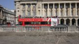 Tourist Bus In Paris stock footage