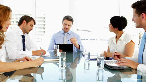 Business people working together during meeting Footage