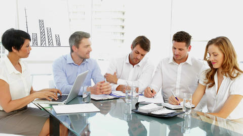 Business team discussing during meeting Footage