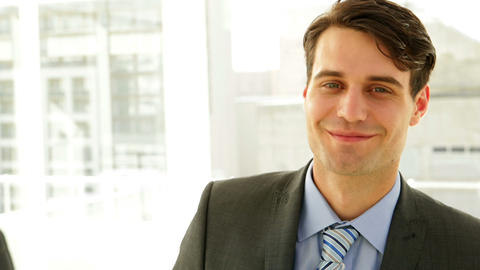 Businessman smiling at camera Stock Video Footage