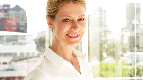 Businesswoman smiling at camera Stock Video Footage