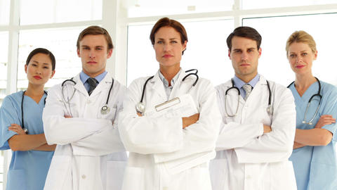 Confident medical team Stock Video Footage