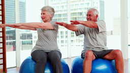 Senior citizens working out Footage