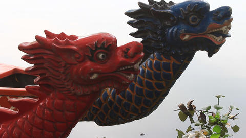 head dragon boat, a unique culture of Asia Live Action