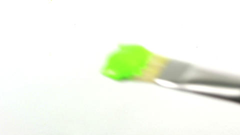 Hand painting chroma key with paintbrush Stock Video Footage