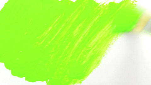 Hand Painting Chroma Key With Paintbrush stock footage