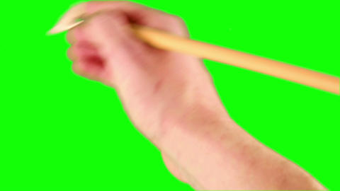 Artist painting with paint brush Stock Video Footage