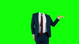 Headless businessman gesturing to camera Stock Video Footage