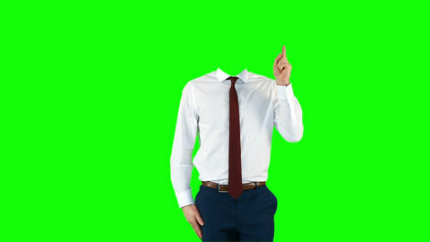 Headless businessman gesturing to camera Footage