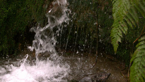 Waterfall flowing in the countryside Stock Video Footage