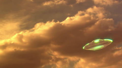 UFO Flight Through Wormhole -UFO Flug Durch Tunnel stock footage