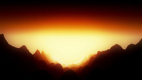 Dangerous landscape with hot atmosphere, Stock Animation
