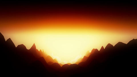Dangerous landscape with hot atmosphere Animation