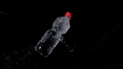 Arrow shooting through plastic bottle, Live Action